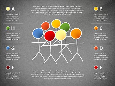 Teamwork Presentation Concept in Sketch Style, Slide 16, 02895, Presentation Templates — PoweredTemplate.com