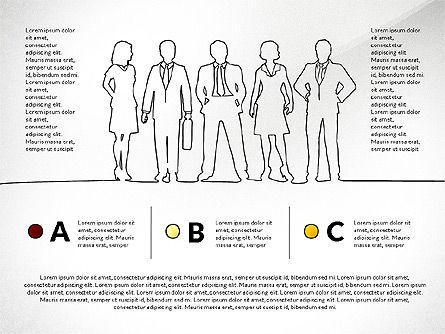 Teamwork Presentation Concept in Sketch Style, Slide 6, 02895, Presentation Templates — PoweredTemplate.com
