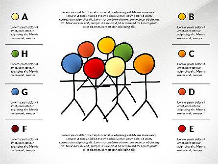 Teamwork Presentation Concept in Sketch Style, Slide 8, 02895, Presentation Templates — PoweredTemplate.com