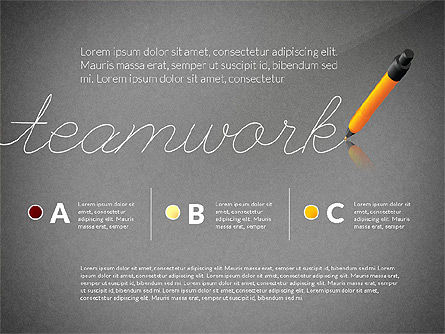 Teamwork Presentation Concept in Sketch Style, Slide 9, 02895, Presentation Templates — PoweredTemplate.com