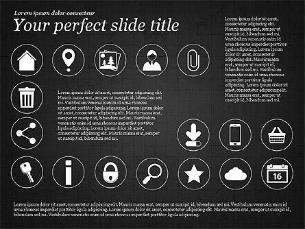 Icons and Text, Slide 10, 02896, Icons — PoweredTemplate.com