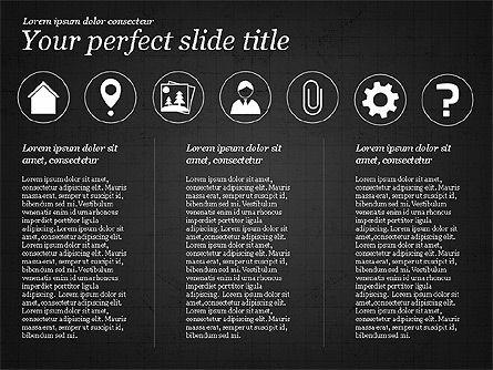Icons and Text, Slide 11, 02896, Icons — PoweredTemplate.com