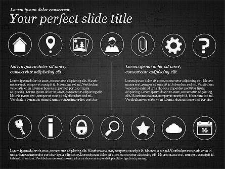 Icons and Text, Slide 15, 02896, Icons — PoweredTemplate.com