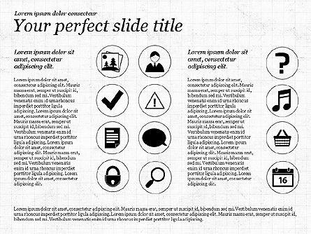 Icons and Text, Slide 8, 02896, Icons — PoweredTemplate.com