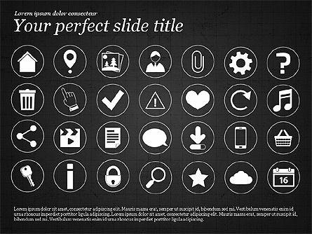 Icons and Text, Slide 9, 02896, Icons — PoweredTemplate.com