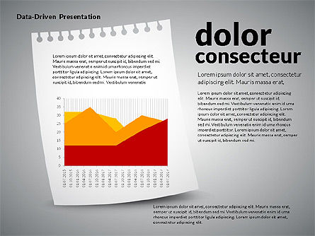 Data Driven Charts on Paper Sheet, Slide 2, 02899, Data Driven Diagrams and Charts — PoweredTemplate.com