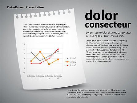 Data Driven Charts on Paper Sheet, Slide 3, 02899, Data Driven Diagrams and Charts — PoweredTemplate.com