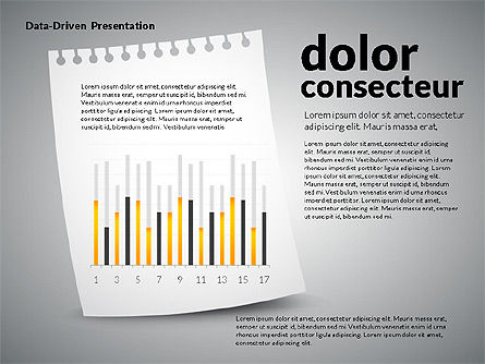 Data Driven Charts on Paper Sheet, Slide 7, 02899, Data Driven Diagrams and Charts — PoweredTemplate.com