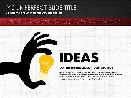 Chalkboard Style Presentation, Slide 12, 02901, Presentation Templates — PoweredTemplate.com