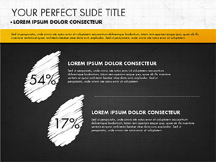 Chalkboard Style Presentation, Slide 3, 02901, Presentation Templates — PoweredTemplate.com