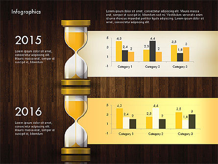 Reports with Hourglass, Slide 11, 02904, Infographics — PoweredTemplate.com