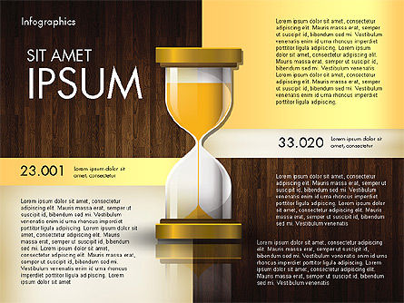 Reports with Hourglass, Slide 13, 02904, Infographics — PoweredTemplate.com