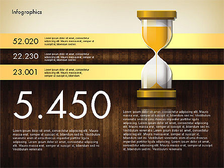 Reports with Hourglass, Slide 2, 02904, Infographics — PoweredTemplate.com