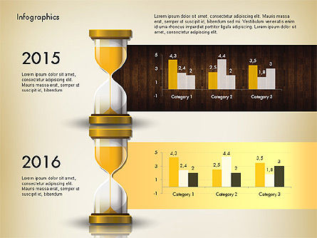 Reports with Hourglass, Slide 3, 02904, Infographics — PoweredTemplate.com