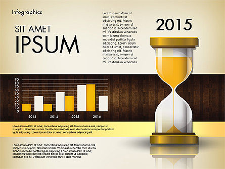 Reports with Hourglass, Slide 6, 02904, Infographics — PoweredTemplate.com