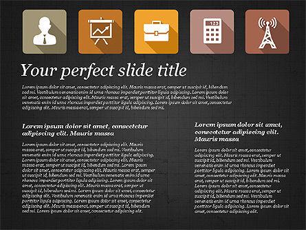 Presentation with Flat Design Icons, Slide 11, 02905, Icons — PoweredTemplate.com