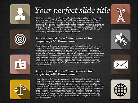 Presentation with Flat Design Icons, Slide 12, 02905, Icons — PoweredTemplate.com