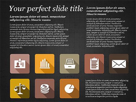 Presentation with Flat Design Icons, Slide 13, 02905, Icons — PoweredTemplate.com