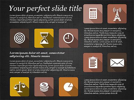 Presentation with Flat Design Icons, Slide 14, 02905, Icons — PoweredTemplate.com