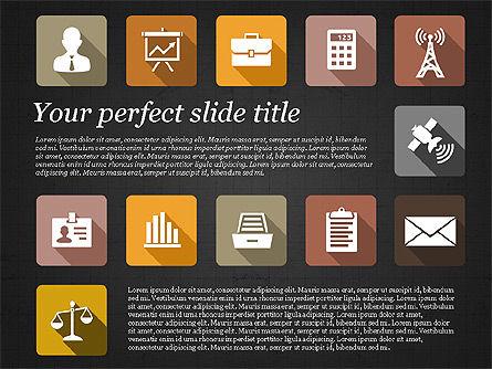 Presentation with Flat Design Icons, Slide 15, 02905, Icons — PoweredTemplate.com