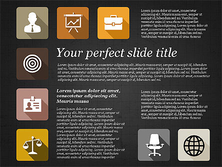 Presentation with Flat Design Icons, Slide 16, 02905, Icons — PoweredTemplate.com