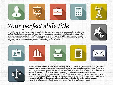Presentation with Flat Design Icons, Slide 7, 02905, Icons — PoweredTemplate.com