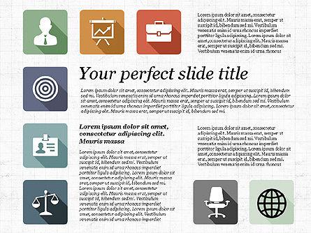 Presentation with Flat Design Icons, Slide 8, 02905, Icons — PoweredTemplate.com