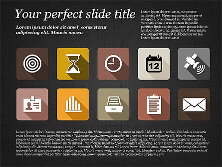 Presentation with Flat Design Icons, Slide 9, 02905, Icons — PoweredTemplate.com
