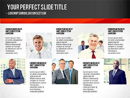 Presentation with Timeline and Stages, Slide 6, 02906, Presentation Templates — PoweredTemplate.com