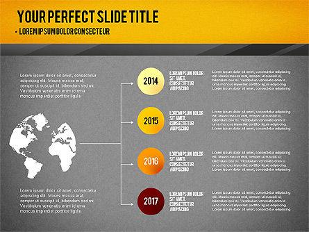 Presentation with Timeline and Stages, Slide 9, 02906, Presentation Templates — PoweredTemplate.com