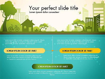 Green City Presentation Template, Slide 2, 02908, Presentation Templates — PoweredTemplate.com