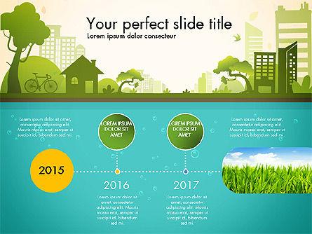 Green City Presentation Template, Slide 3, 02908, Presentation Templates — PoweredTemplate.com