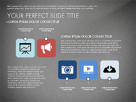 Presentation with Stages in Flat Design, Slide 10, 02911, Presentation Templates — PoweredTemplate.com