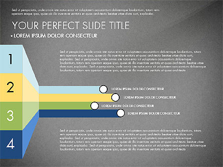 Presentation with Stages in Flat Design, Slide 11, 02911, Presentation Templates — PoweredTemplate.com