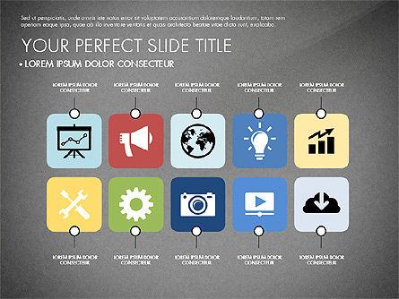 Presentation with Stages in Flat Design, Slide 13, 02911, Presentation Templates — PoweredTemplate.com