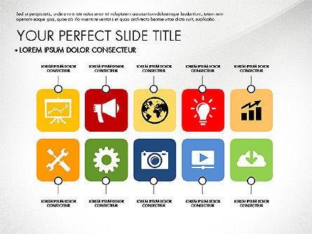Presentation with Stages in Flat Design, Slide 5, 02911, Presentation Templates — PoweredTemplate.com