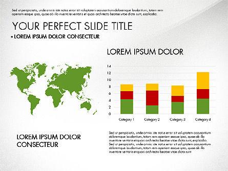 Presentation with Stages in Flat Design, Slide 6, 02911, Presentation Templates — PoweredTemplate.com