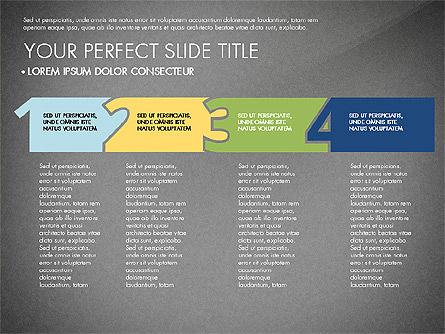 Presentation with Stages in Flat Design, Slide 9, 02911, Presentation Templates — PoweredTemplate.com