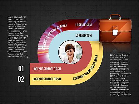 Business Process Concept, Slide 10, 02912, Stage Diagrams — PoweredTemplate.com