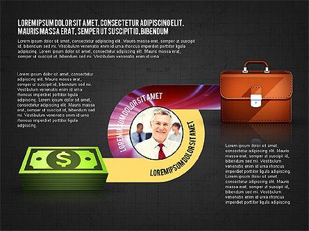 Business Process Concept, Slide 11, 02912, Stage Diagrams — PoweredTemplate.com