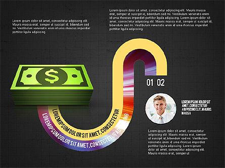 Business Process Concept, Slide 12, 02912, Stage Diagrams — PoweredTemplate.com