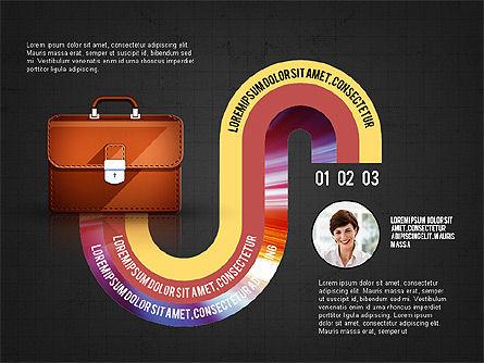 Business Process Concept, Slide 14, 02912, Stage Diagrams — PoweredTemplate.com