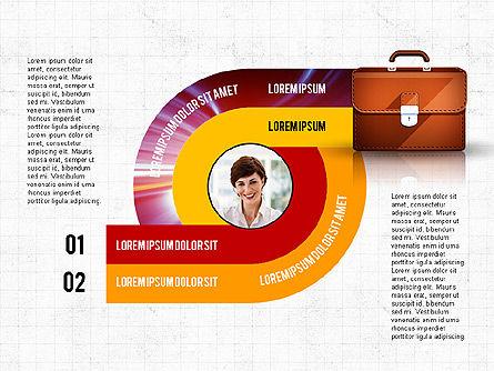 Business Process Concept, Slide 2, 02912, Stage Diagrams — PoweredTemplate.com