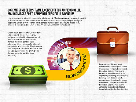 Business Process Concept, Slide 3, 02912, Stage Diagrams — PoweredTemplate.com