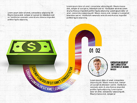 Business Process Concept, Slide 4, 02912, Stage Diagrams — PoweredTemplate.com