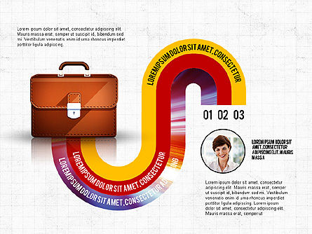 Business Process Concept, Slide 6, 02912, Stage Diagrams — PoweredTemplate.com
