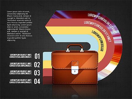 Business Process Concept, Slide 9, 02912, Stage Diagrams — PoweredTemplate.com
