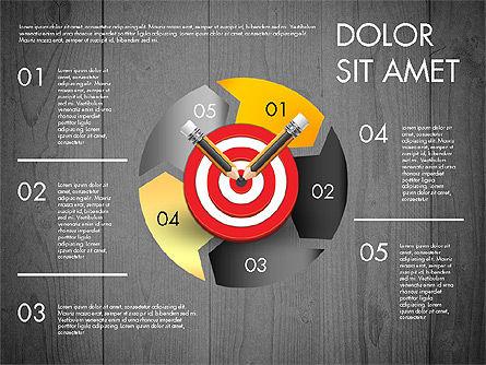 Process with Target Concept Diagram, Slide 10, 02913, Process Diagrams — PoweredTemplate.com