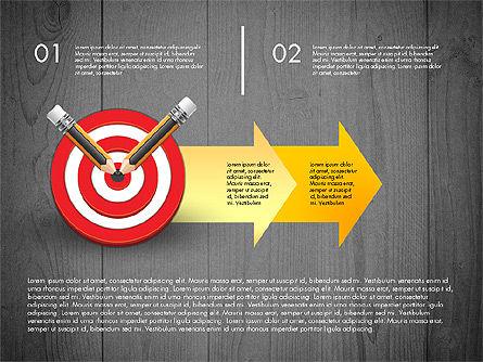 Process with Target Concept Diagram, Slide 11, 02913, Process Diagrams — PoweredTemplate.com