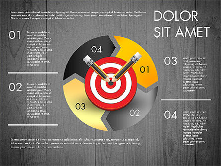 Process with Target Concept Diagram, Slide 12, 02913, Process Diagrams — PoweredTemplate.com